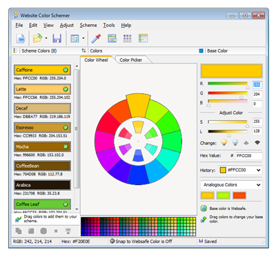 HTML Editor Website Color Schemer - Included!